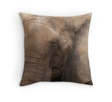 elephant in the jungle Throw Pillow