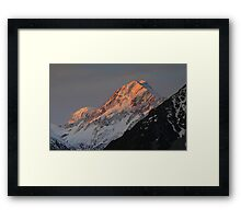 In the Hall of the Mountain King- Aoraki at Sunset Framed Print