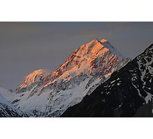 In the Hall of the Mountain King- Aoraki at Sunset Photographic Print