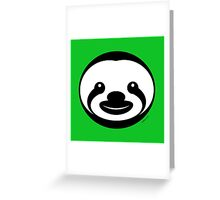 Sloth Logo Greeting Card