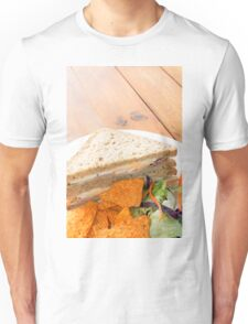 Ham and Egg Sandwiches With Salad and Nachos Unisex T-Shirt