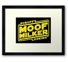 Scruffy Looking Moof Milker Framed Print
