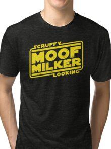 Scruffy Looking Moof Milker Tri-blend T-Shirt