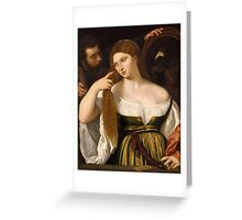 Tiziano Vecellio, Titian - Girl Before the Mirror Greeting Card