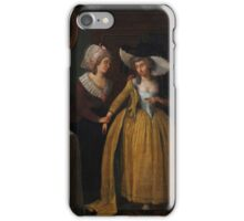 Dutch School (18th century), A lady and her maid iPhone Case/Skin