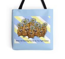 Cheering You on as You Fight Cancer: Hamsters and Daisies Tote Bag