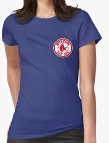 Boston Red Sox Logo Baseball Womens Fitted T-Shirt