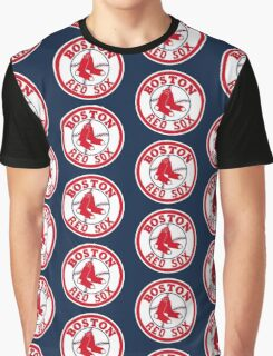 Boston Red Sox Logo Baseball Graphic T-Shirt