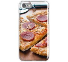 Pepperoni Pizza on a Wooden Board iPhone Case/Skin