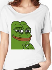 Transparent Smug Pepe Women's Relaxed Fit T-Shirt