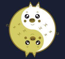 Cute pigs yin yang  Baby Tee