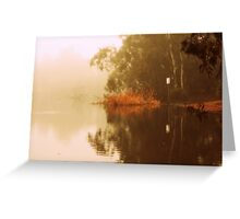 Misty Morning Reflection By Lorraine McCarthy Greeting Card