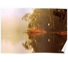 Misty Morning Reflection By Lorraine McCarthy Poster
