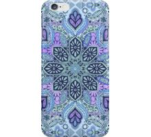 Navy Blue, Mint and Purple Boho Pattern iPhone Case/Skin