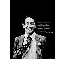 "Harvey Milk - ""Rights"" Quote Photographic Print"
