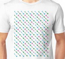 Thousand Arrows (Green & Blue & Purple) Unisex T-Shirt