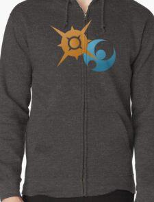 Sun And Moon Zipped Hoodie