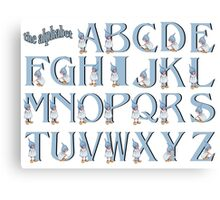 Alphabet: Letters of the Alphabet with Gnome Girls Canvas Print