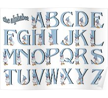 Alphabet: Letters of the Alphabet with Gnome Girls Poster