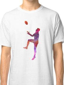 Rugby man player 01 in watercolor Classic T-Shirt