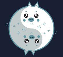 Cute pigs yin yang  One Piece - Short Sleeve