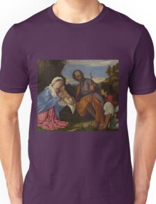 Tiziano Vecellio, Titian - The Holy Family Unisex T-Shirt