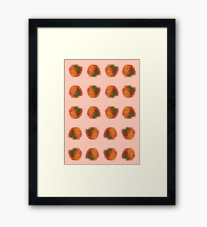 peach splash Framed Print