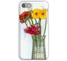 Gerberas in vase iPhone Case/Skin