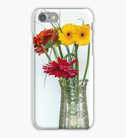 Gerberas in vase iPhone Case/Skin