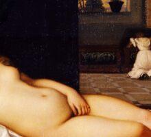 Tiziano Vecellio, Titian - Venus of Urbino 1538 Sticker