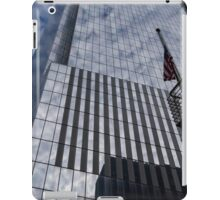 Silver and Blue - Cloud Puffs and Glass Skyscrapers iPad Case/Skin