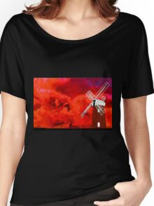 Horsey Drainage Mill, Norfolk Broads circa 19th century Women's Relaxed Fit T-Shirt