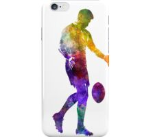 Rugby man player 02 in watercolor iPhone Case/Skin