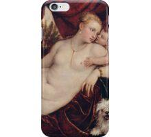 Tiziano Vecellio, Titian - Venus with the Organ Player around 1550 iPhone Case/Skin