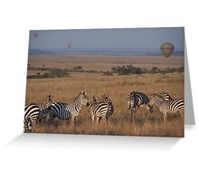 Maasai observance - who's watching who? Greeting Card