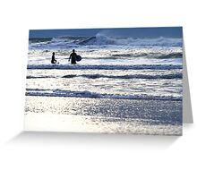 Surfglow - Freshwater West Greeting Card