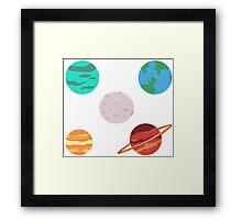lil planets Framed Print