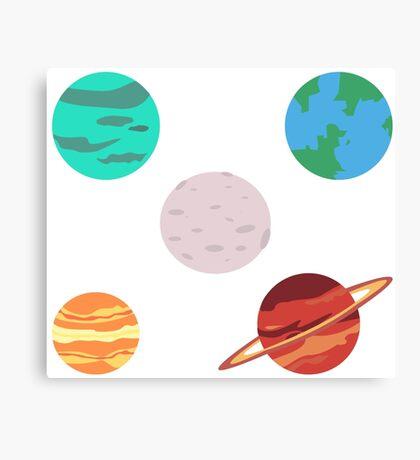 lil planets Canvas Print