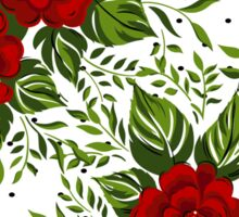 Floral pattern with Red Roses.  Sticker