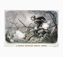 Double-barreled breech loader - 1880 - Currier & Ives One Piece - Short Sleeve