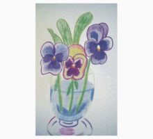 Pansies - Pencil Drawing Kids Clothes