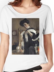 Valentin Serov - Portrait of Henriette Girshman  Women's Relaxed Fit T-Shirt