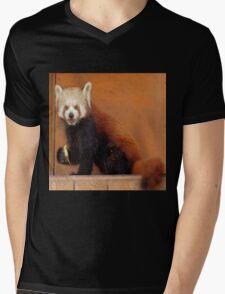 Cute Red Panda Mens V-Neck T-Shirt
