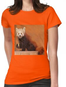 Cute Red Panda Womens Fitted T-Shirt
