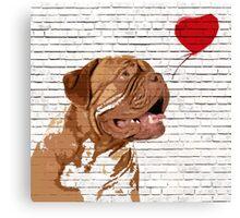 Dogue De Bordeaux Banksy Style Canvas Print