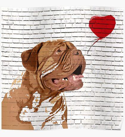 Dogue De Bordeaux Banksy Style Poster