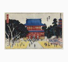 Kinryusan Temple Asakusa - Hiroshige Ando - 1837 - woodcut One Piece - Long Sleeve