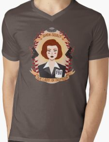Dana Scully Mens V-Neck T-Shirt