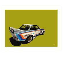 BMW CSL BATMOBILE Art Print