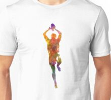 Rugby man player 04 in watercolor Unisex T-Shirt